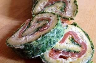 Ein raffiniertes Low-Carb-Gericht: die Spinat-Lachsrolle