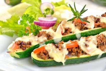 Low-Carb-Rezept für gefüllte Zucchini