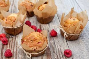 Rezept für kohlenhydratarme Himbeer-Muffins