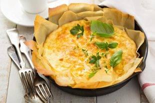 Perfekt für das Low-Carb-Frühstück: Lauch-Schinken-Omelette