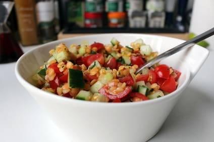 Low-Carb-Rezept für Linsensalat