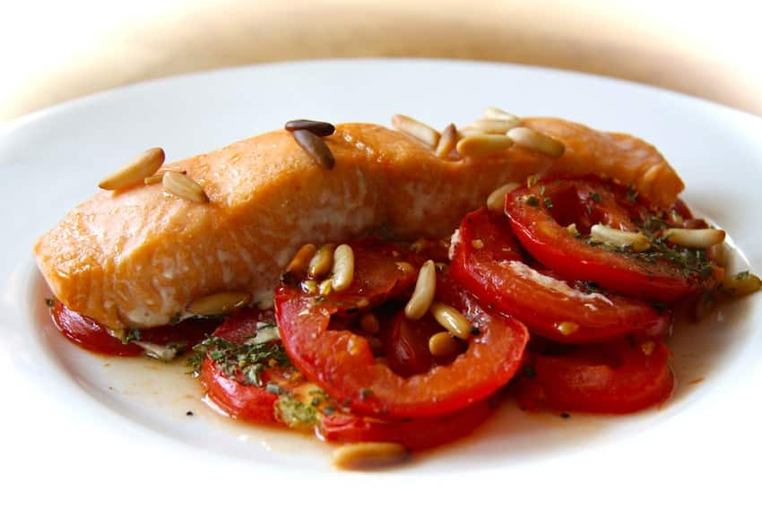 Tomaten-Seelachs