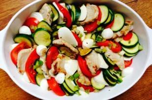 Tomaten-Mozzarella-Steaks - ein Low-Carb-Gericht aus dem Backofen