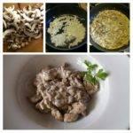 Putengeschnetzeltes mit Champignons - ein cremiges, herzhaftes Low-Carb-Rezept