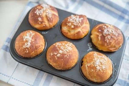 Low-Carb-Rezept für Croissant-Brötchen
