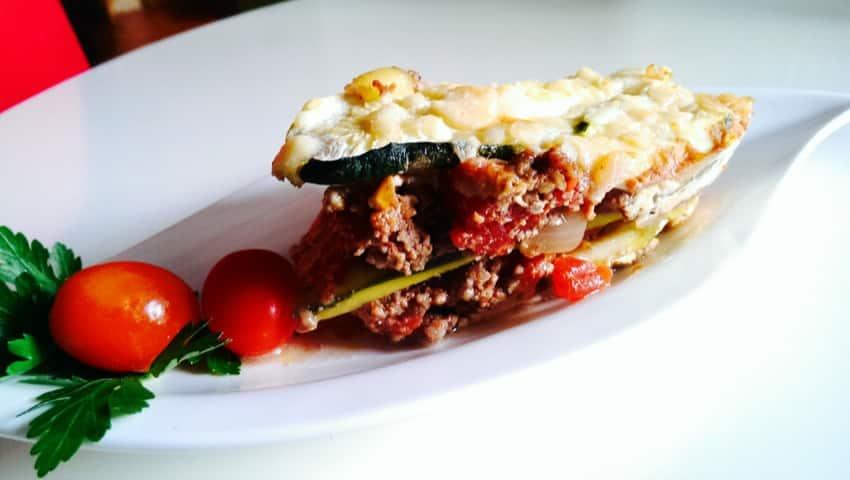 rezept f r low carb zucchini lasagne. Black Bedroom Furniture Sets. Home Design Ideas