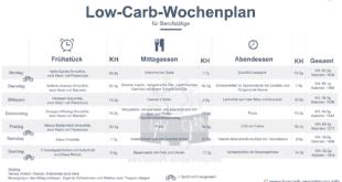 Low Carb Ernährungsplan für Berufstätige