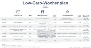 Low Carb Wochenplan, Atkins Phase 1