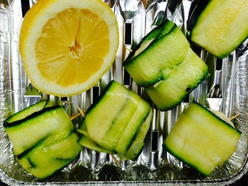 Ziegenkäse-Zucchini-Sticks