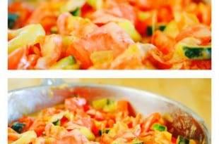 Ein Rezept für eine leichte, kohlenhydratarme griechische Gemüsepfanne