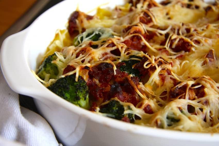 Brokkoli-Chorizo-Auflauf
