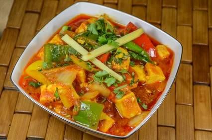 low carb rezept f r eine paprika tofu pfanne. Black Bedroom Furniture Sets. Home Design Ideas
