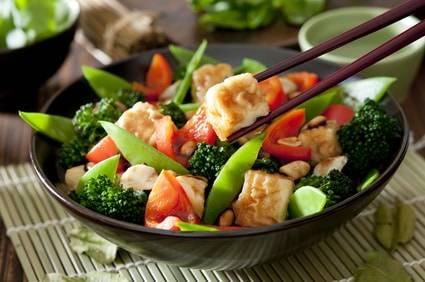 Low-Carb-Rezept für eine Tofu-Brokkoli-Pfanne