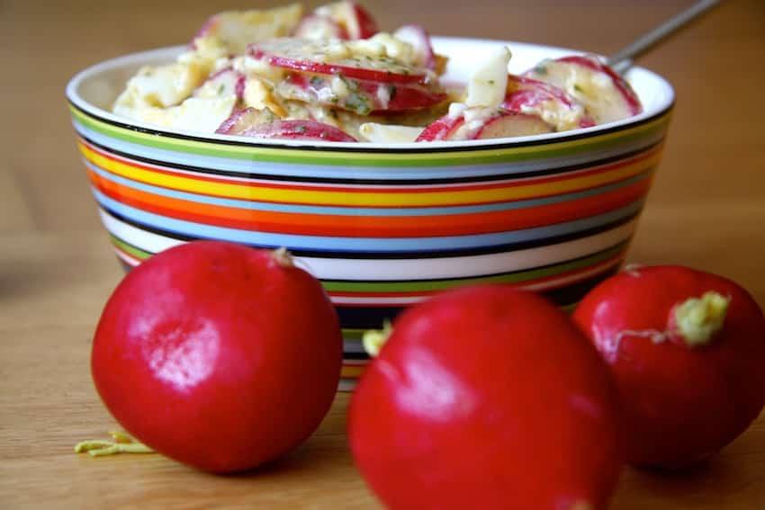 Radieschen-Eiersalat