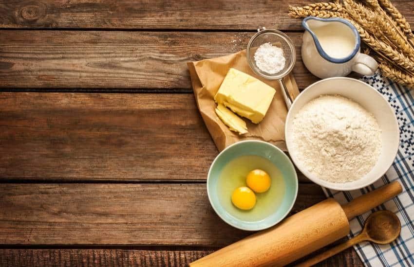 Zutaten für kohlenhydratarme Kuchen und Torten