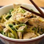 Low Carb Rezept für Sesamhühnchen mit Zoodles